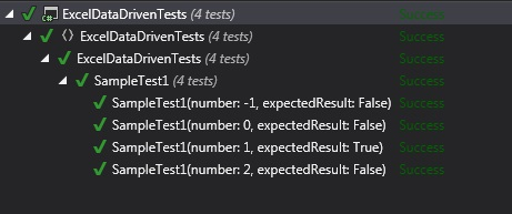 Excel Data Driven Test Sample
