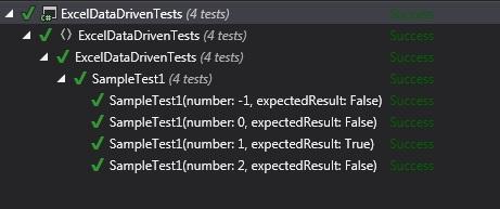 Excel Data Driven Test Sample