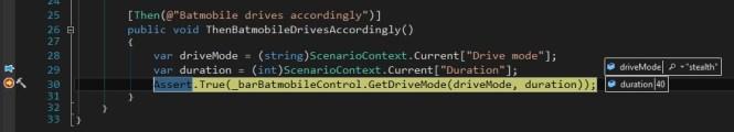 Specflow scenario context in action