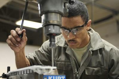 worker, drilling, machine