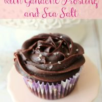 Brownie Cupcakes with Ganache Frosting and Sea Salt