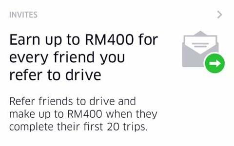 daftarkan uber driver dapat komisyen