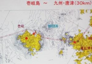 日韓トンネル(壱岐島内の計画図)