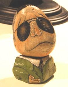 石コロ展(タモリさんそっくりの石も)