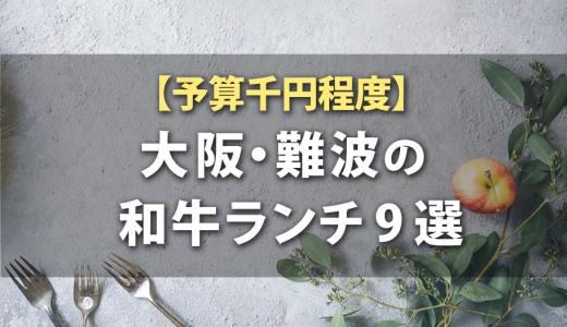 【予算千円程度】大阪・難波の和牛ランチ9選