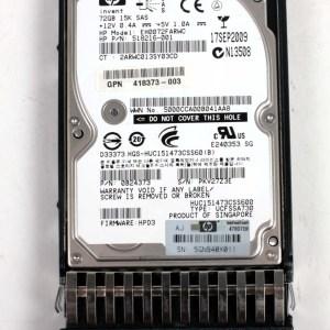 "HP 72.0GB 15K SAS 2,5"" Harddisk & Kızak 518216-001 EH0072FARWC 418398-001"