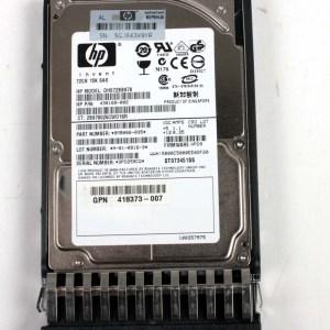 """HP 72.0GB 15K SAS 2,5"""" Harddisk & Kızak 430169-002 DH072BB978 432321-001"""