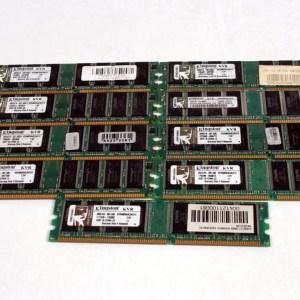 9 ADET KINGSTON 512MB DDR PC3200U 400MHz KVR400X64C3A/512
