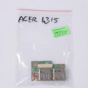 Acer Aspire 4315 USB Port Board 48.4X104.011