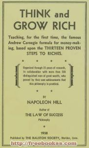 Think and Grow Rich - Napoleon Hill free ebook