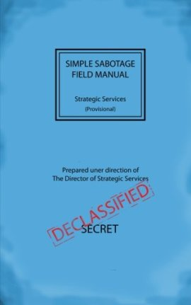 Simple Sabotage Field Manual ebook epub/pdf/prc/mobi/azw3 download free