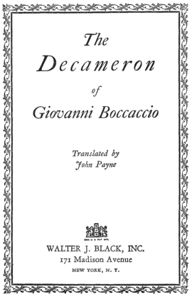 The Decameron of Giovanni Boccaccio ebook epub/pdf/prc/mobi/azw3 download free