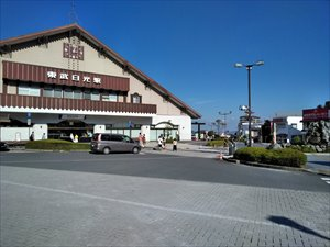 東武日光駅と駅前のバリアフリー状況