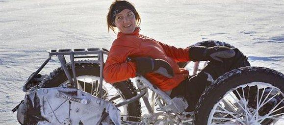 Güney Kutbunda Bir Yarış Hem de Bisikletle