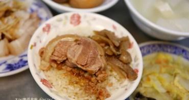 彰化市老朱爌肉飯|彰化三民市場周邊美食小吃,爌肉飯淋肉燥加蘿蔔乾一絕,再來個香腸美味不容錯過