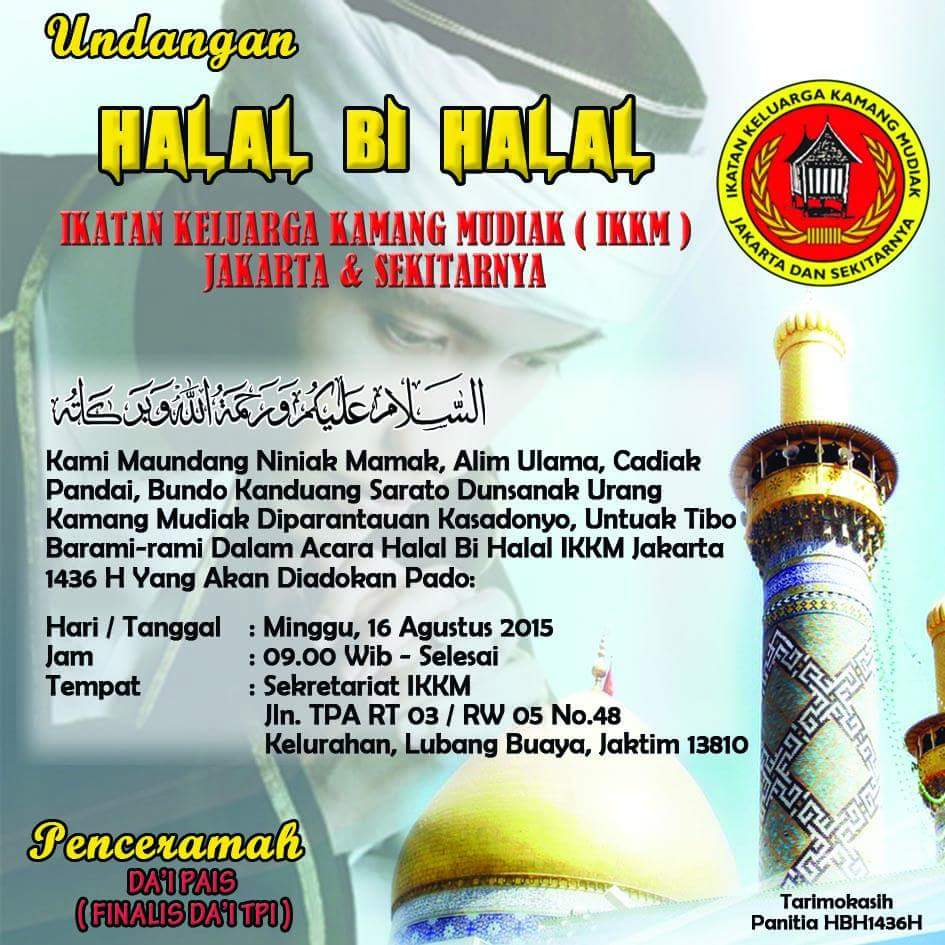 Halal Bi Halal Ikatan Keluarga Kamang Mudiak Ikkm Jakarta Dan
