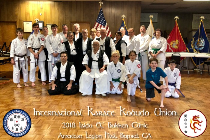 2018 IKKU Iaido and Bokken Clinic
