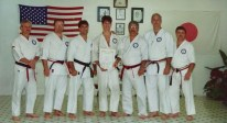 Hanshi Ron Downton shown here with Soke Ruiz middle and Kyoshi-Sei Larry Griffin far left. Check out that