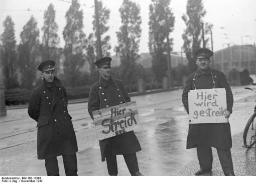 Berlin, BVG-Streik, Streikposten