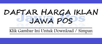 Daftar Harga Iklan Display Umum BW Jawa Pos 2015