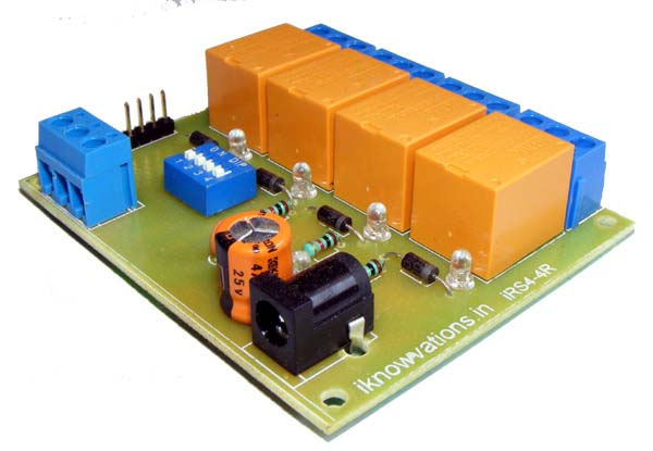 4 Channel RS-485 Relay Board  module - iknowvations.in