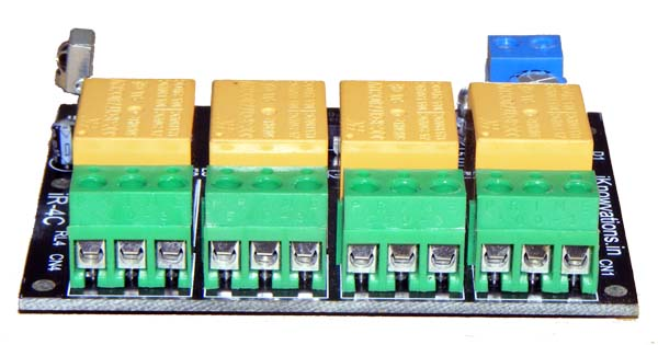4 channel infrared remote control relay board - iknowvations.in