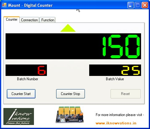 iKount digital counter using U452 b iknowvations.in