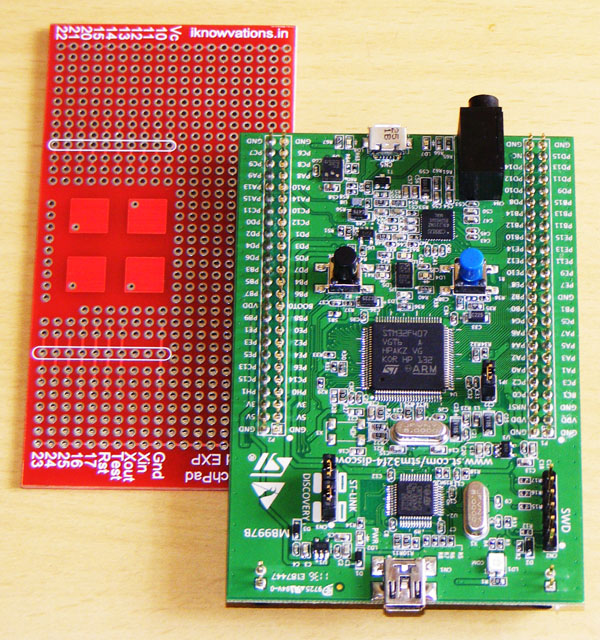 STM32F4 DISCOVERY with iknowvations Experiment board-1