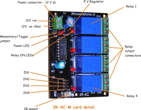 iR-4C-M ir remote card for robot