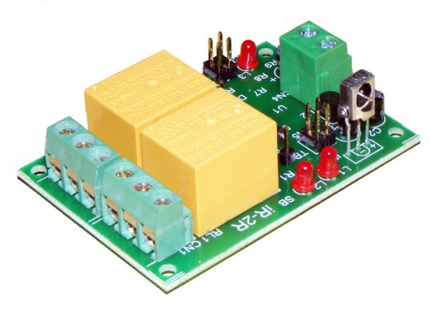 2 channel infrared ir remote control board-2 iknowvations.in