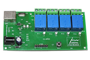iU-4RD 4 channel usb relay & daq board from iknowvations.in
