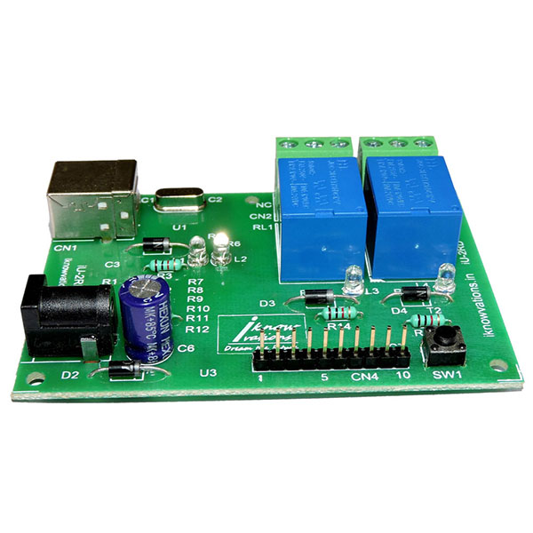iU-2RD 2 channel usb relay board from iknowvations