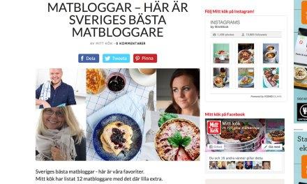 Sveriges bästa matbloggare