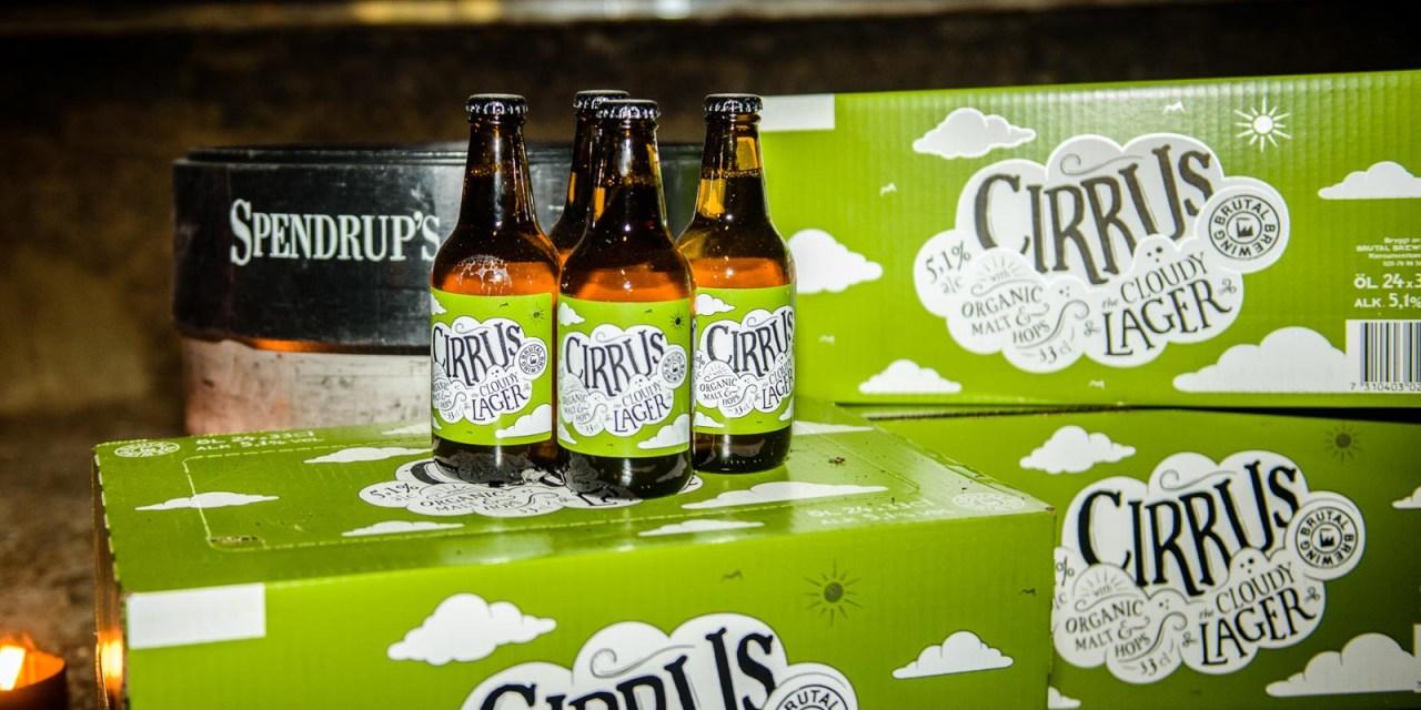 Cirrus the Cloudy Lager från Brutal Brewing, en öllansering bland molnen