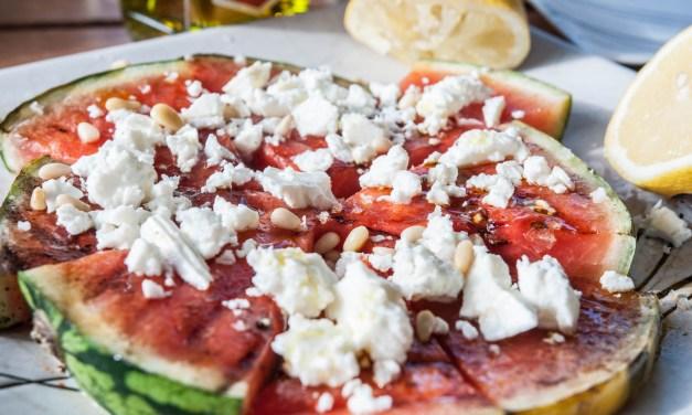 Grillad vattenmelon med fetaost