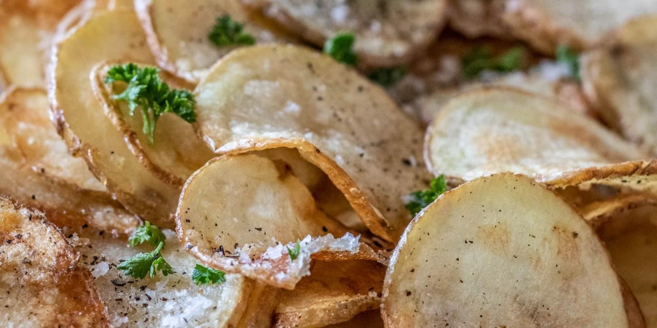 Friterade potatisskivor
