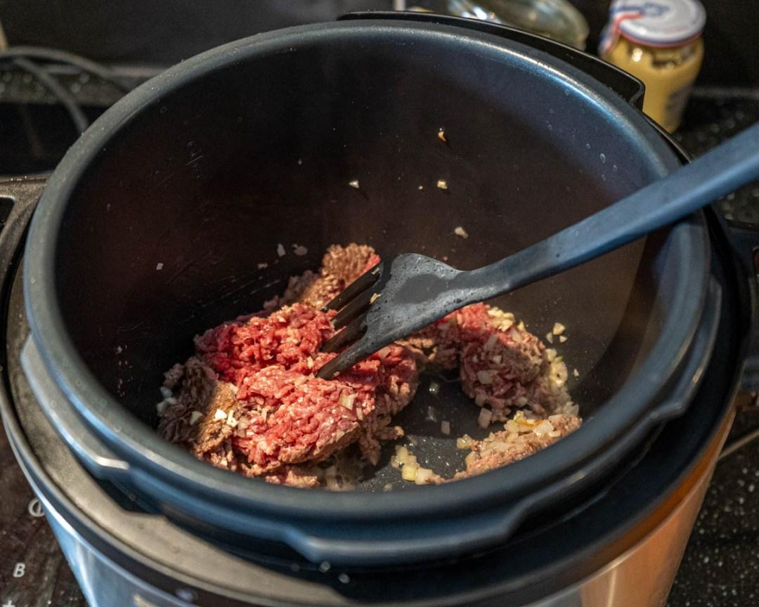 köttfärssås i tryckkokare