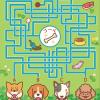 犬の迷路イラストです