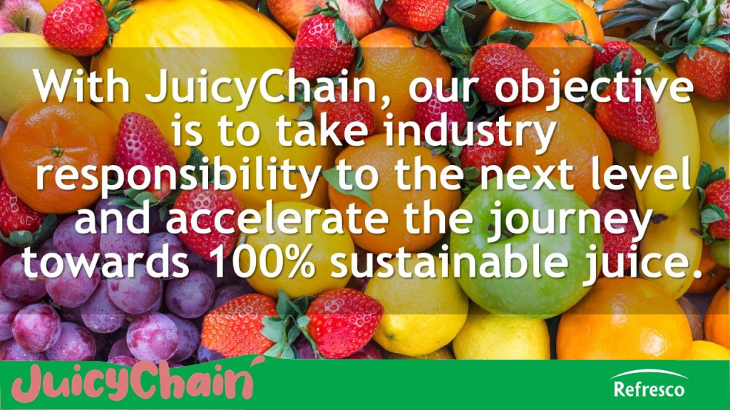 Refresco JuicyChain sustainability quote