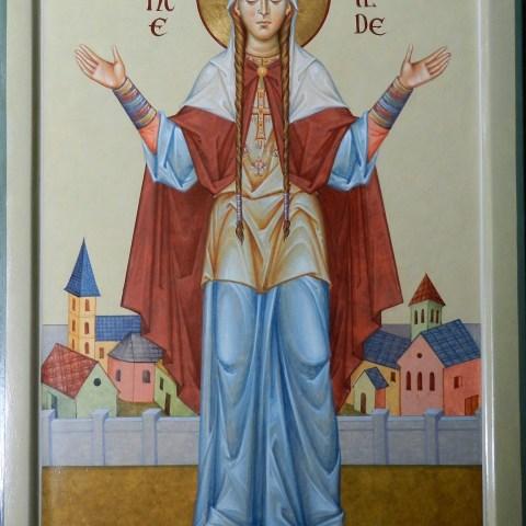 Sainte Bathilde, 29 cm x 40 cm
