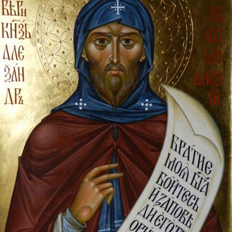Saint Prince Alexandre de Neva (moine Alexis), 29 cm x 40 cm