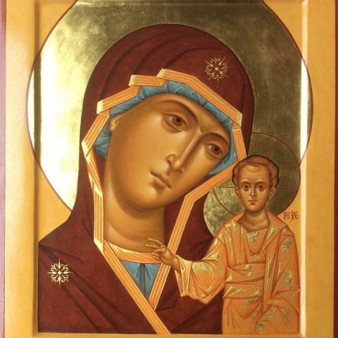 La Mère de DIeu de Kazan, 30 cm x 39 cm