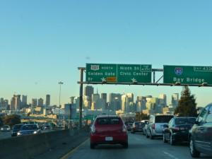 L'arrivée à SF