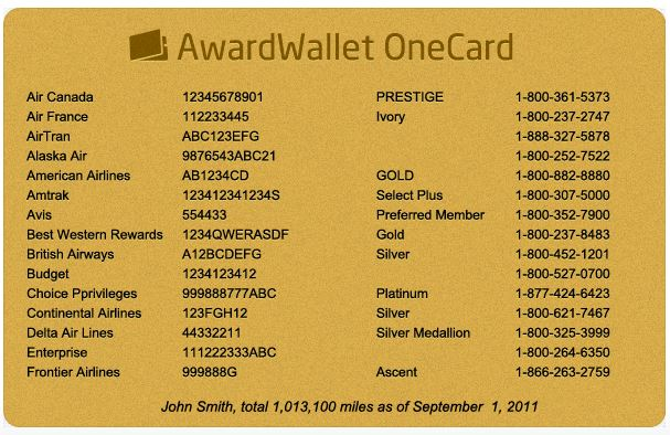 AwardWallet OneCard