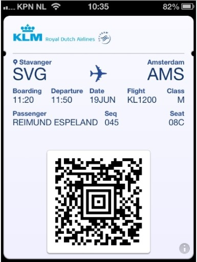 KLM Ticket