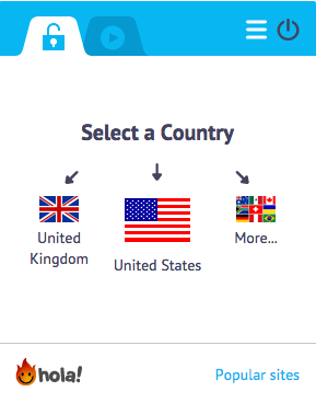 Geolocation - Hola Country Selection