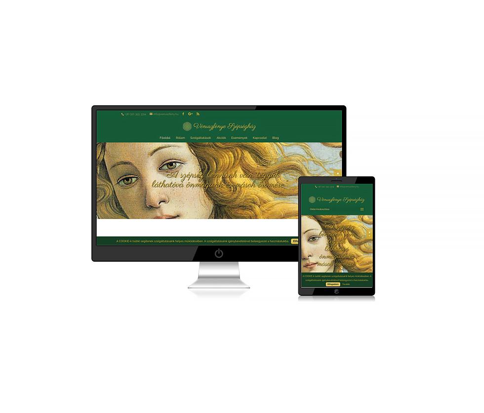 Weboldal Vénuszfénye Szépségház