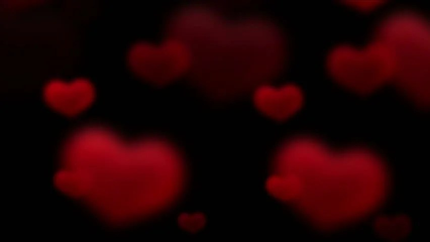 Heart Shaped Fireworks Footage Stock Clips