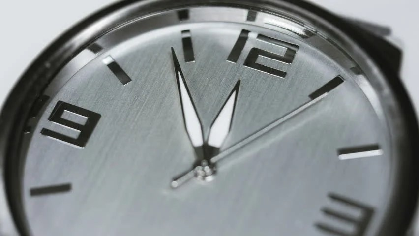 Clock Minute Second And Hour Hands Moving Fast Animated