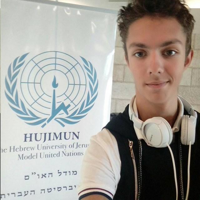 Михаил Гольдштейн - студент Еврейского университета